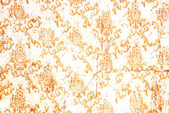 Old wall with damask pattern Stock Image