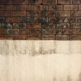 Dirty wall concrete and brick royalty free stock photo