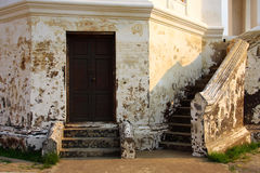 Old wall and door. Old wall and wooden door royalty free stock images