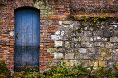 Old wall and door. Royalty Free Stock Photography