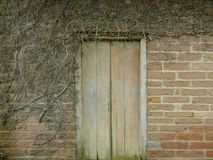 Old wall with door royalty free stock photography