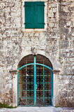 Old wall with door and window Royalty Free Stock Photography