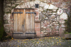 Old wall and door Royalty Free Stock Photography
