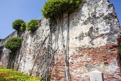 Old wall of the Dutch VOC Anping Fortress in Tainan, Taiwan. Asia Royalty Free Stock Image