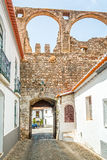 Old Wall entrance of the Castle in Serpa Royalty Free Stock Photo