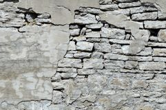 Old Wall Falling Apart Royalty Free Stock Photography