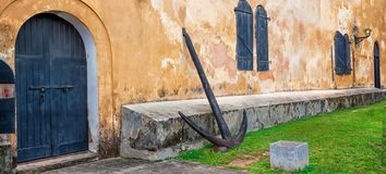 The old wall of the Fort of Galle the island of Sri Lanka stock photography