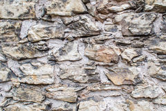 Old wall full of rough blocks. In one middle european city royalty free stock photography