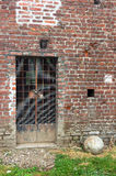 Old wall with a gate Stock Photography