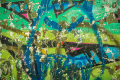 Old wall with graffiti Royalty Free Stock Photography