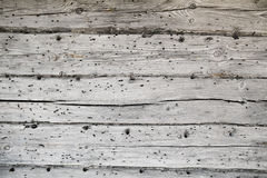 Old wall with grey wooden texture Royalty Free Stock Images