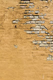 Old wall. Grunge background yellow Stock Images