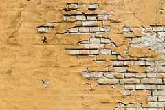 Old wall. Grunge background yellow Royalty Free Stock Image