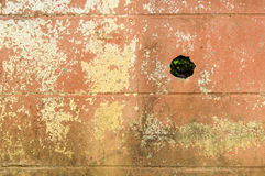 Old wall with a hole. Royalty Free Stock Photos