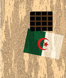 Outside wall with flag Algeria Stock Image