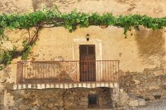 Old wall of housse in Corsica village Stock Images