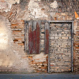 Old wall with immured window Royalty Free Stock Photography