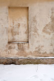 Old wall with immured window Stock Photos