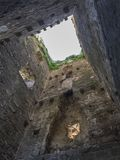 Stone wall inside tower in Istria. Old wall inside tower in Istria near Slowenian border royalty free stock images