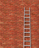 Old wall and ladder Stock Photo