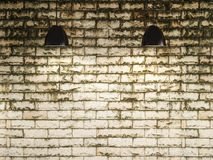Old wall and lamp interior design, 3d rendering Royalty Free Stock Photography