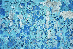 Old wall with layers of damaged paint Stock Images