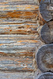 Old wall of logs Stock Photos