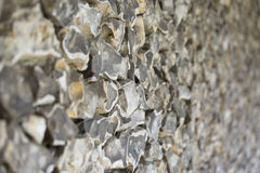 Old wall made of flint Stock Photography