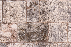 Old wall made of the Jerusalem stone Royalty Free Stock Photo