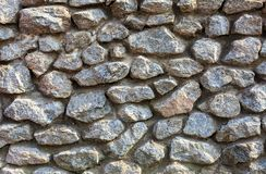 Old wall made of large stones stock image