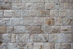 Old wall made of light stones Royalty Free Stock Images