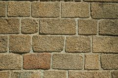 Free Old Wall Made Of Large Stone Bricks Forming A Background Stock Photos - 145706733
