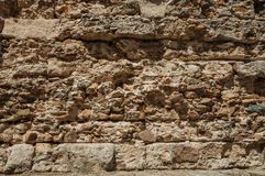 Free Old Wall Made Of Rough Stones In The Roman Theater Of Merida Royalty Free Stock Photos - 142175278