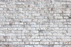 Old wall made of red brick, painted white in loft style for modern designer interior. Of room, bar or restaurant royalty free stock images