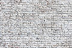 Old wall made of red brick, painted white in loft style for modern designer interior. Of room, bar or restaurant royalty free stock photos