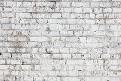 Old wall made of red brick, painted white in loft style for modern designer interior of room. Bar or restaurant royalty free stock photos