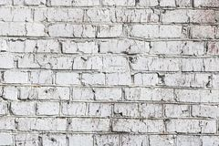 Old wall made of red brick, painted white in loft style for modern designer interior of room. Bar or restaurant stock images