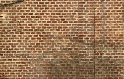 Wall made of terracotta bricks Royalty Free Stock Images