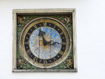 Old wall medieval clock of the Holy Spirit Church, Tallinn, Estonia. Old wall medieval clock of the Holy Spirit Church, Tallinn Estonia Stock Photo