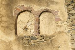Old wall of the medieval fortress in Gondar, Ethiopia Royalty Free Stock Photo