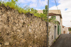 Old wall. Mediterranean architecture - old wall - street with no people Stock Photo