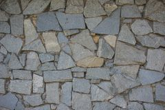 Old wall mosaic of stones.  Royalty Free Stock Images
