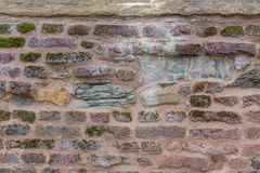 Old wall with moss Royalty Free Stock Photos