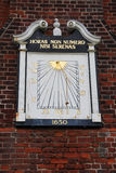 Old Wall mounted Sundial Royalty Free Stock Image