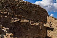 Old wall in a Native American pueblo stock images
