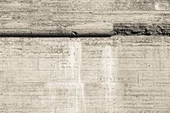 Old wall from a natural stone of beige color Royalty Free Stock Images