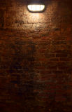 Brick Wall at Night royalty free stock photos