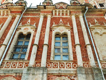 Old wall of Nikolsky Cathedral in Mozhaysk Kremlin Stock Images