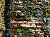 Old wall in old town. Block Stock Photography