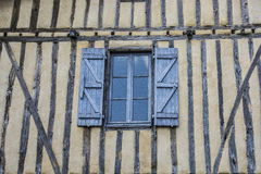 Old  wall with Open shutters Royalty Free Stock Photos